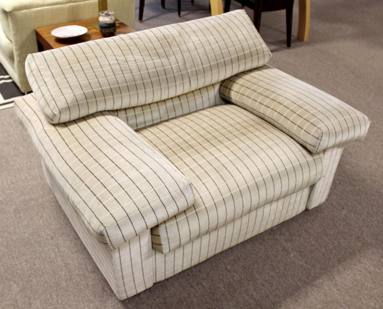 Fabric Modern Sectional Chair Ottoman Set Tobia Scarpa B&B Italia 1970s For Sale