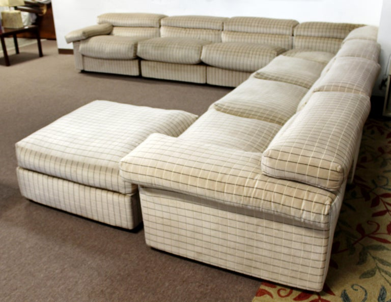 Modern Sectional Chair Ottoman Set Tobia Scarpa B&B Italia 1970s For Sale 3