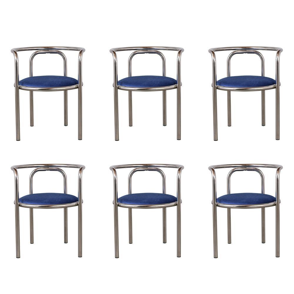Set of Modern Barrel Back Chairs