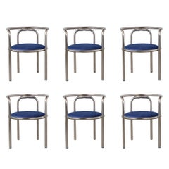 Set of Modern Barrel Back Chairs