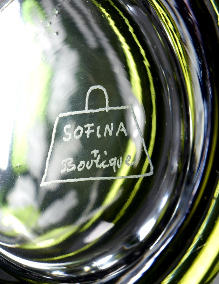 German Modern Set of Six Glass Tumbler Handblown Sofina Boutique Kitzbuehel For Sale