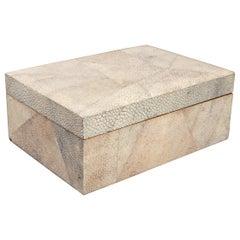 Modern Shagreen Clad Wood Dresser or Jewelry Box
