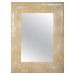 Modern Shagreen Rectangular Mirror