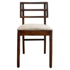 Modern Side Chair in Oak Wood Style Paul Laszlo Glenn of Calif Restored, 1960s