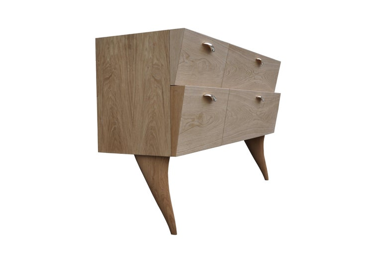 Contemporary Modern Sideboard 'Xuni' Brass Top Handcrafted with European or Exotic Woods For Sale