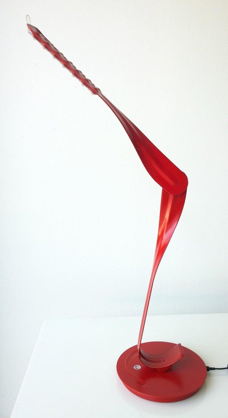 Metal Modern Signed Herman Miller Red and Black