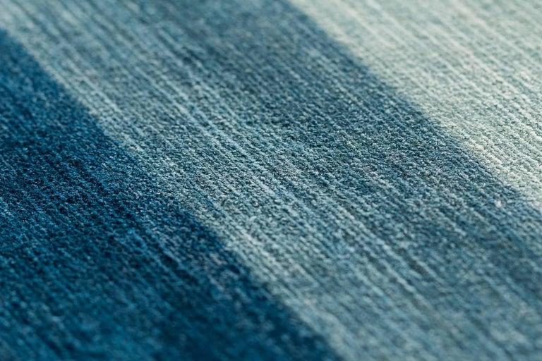 A Contemporary Silk Area Rug Multi Colors By CARINI 9x12 For Sale 1