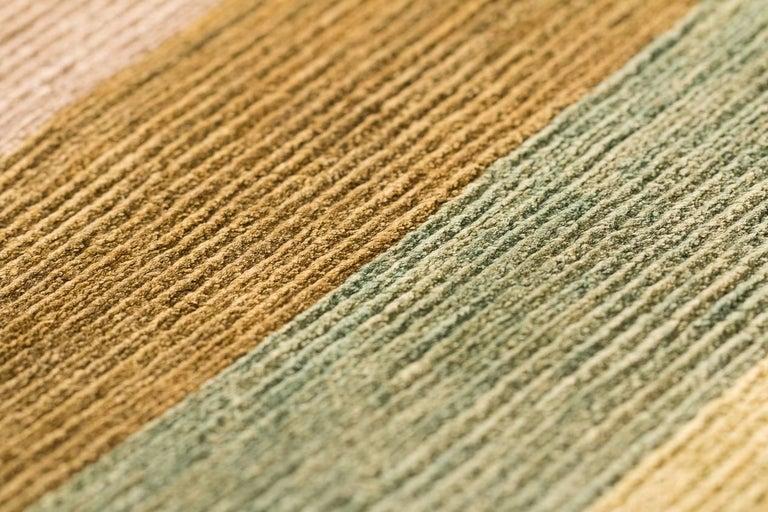 A Contemporary Silk Area Rug Multi Colors By CARINI 9x12 For Sale 2