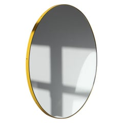 Orbis™ Round Mirror with Contemporary Yellow Frame - Regular