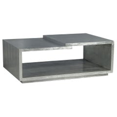 Modern Silver Leafed Cocktail Table