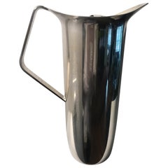 Modern Silver Plate Water Pitcher with Removable Ice Guard Barware by Towle