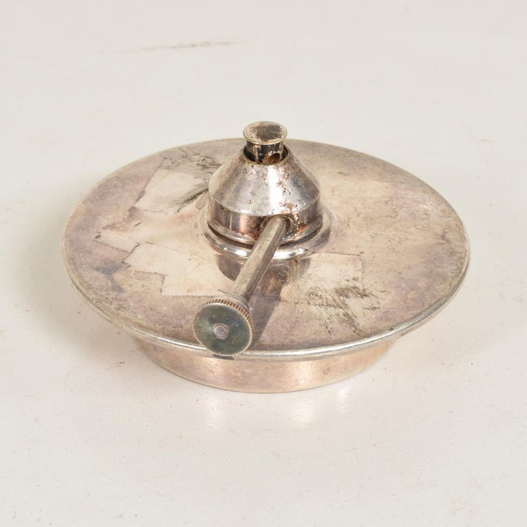 Late 20th Century Modern Silver Plated Chafing Dish Burner For Sale