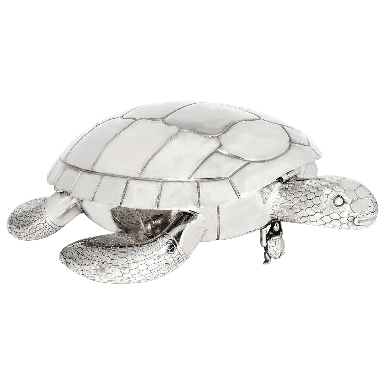Modern Silver Plated Tortoise-Form Serving Platter