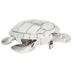 Modern Silver Plated Tortoise-Form Serving Platter