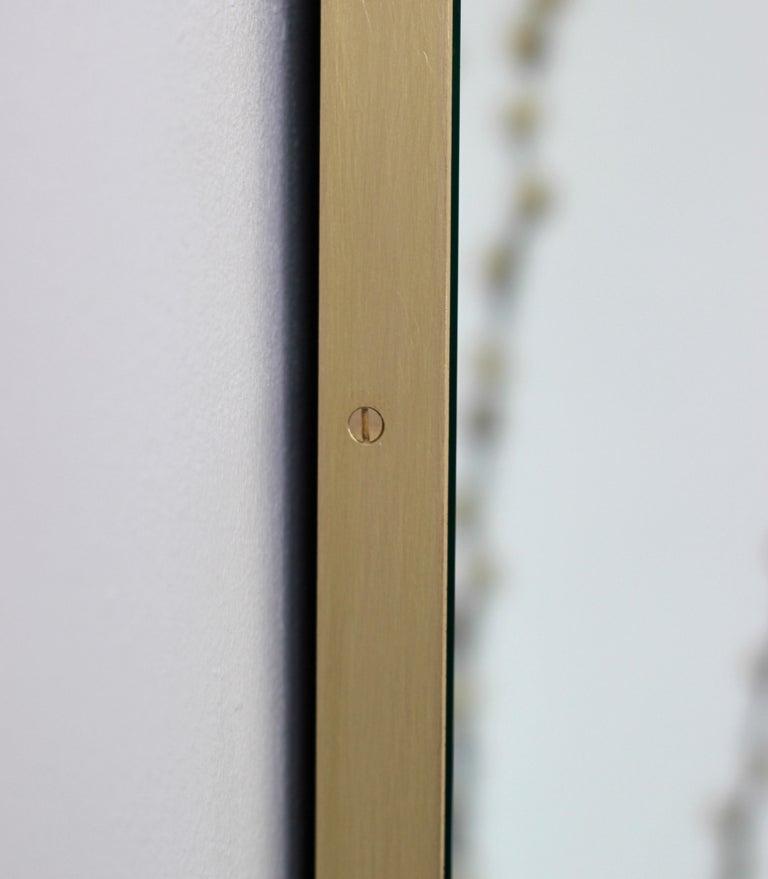 Quadris™ Rectangular Modern Mirror with Brass Frame 3