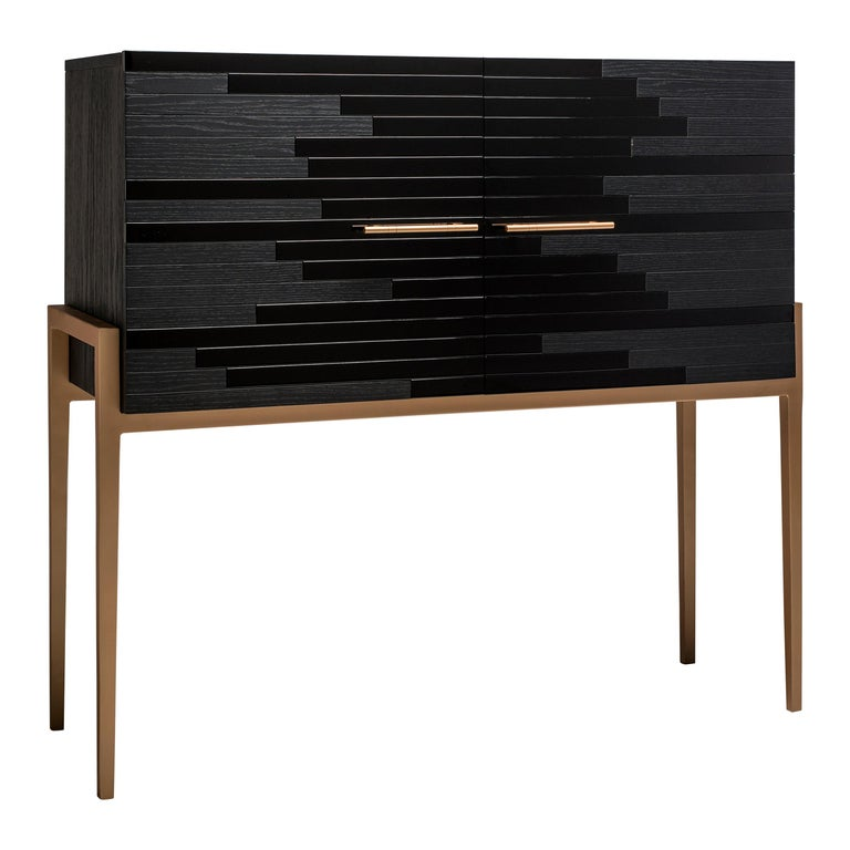 Storage cabinet with doors designed by Larissa Batista 