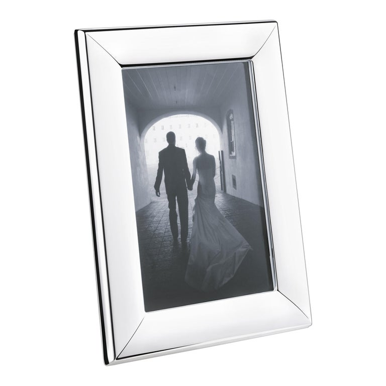 Modern Small Picture Frame in Stainless Steel Mirror Finish by Georg Jensen For Sale