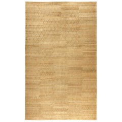 Modern Soho Gold Hand Knotted Wool Rug