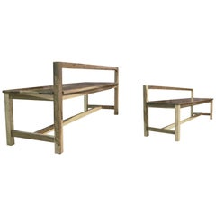 Modern Solid Argentine Rosewood Outdoor Bench from Costantini, Serrano