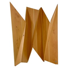 Modern Solid Wood Sculpture Screen by Pierre Sarkis