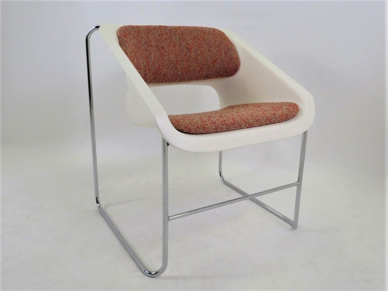 Modern Space Age 2 Lotus Stackable Chairs by Paul Boulva for Artopex Canada 1976 For Sale 1