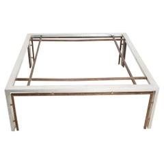 Modern Square Coffee Table Modular Design Bronze and Aluminum Arturo Pani 1960s