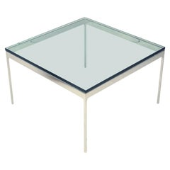 Modern Square Glass Chrome Nico Zographos Cocktail / Coffee Table