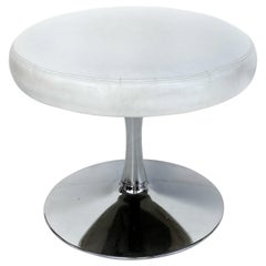 Modern Stainless Steel Round Swivel Stool