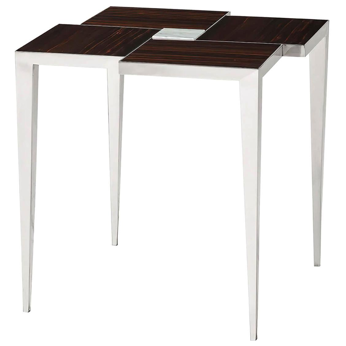 Modern Stainless Steel Side Table