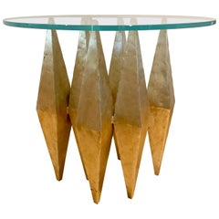 Modern Steel and Glass Center Table