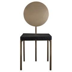 Modern Steel Chair by Dario Cipelletti for NOBE Italia Pendolo Steel Wood Gold