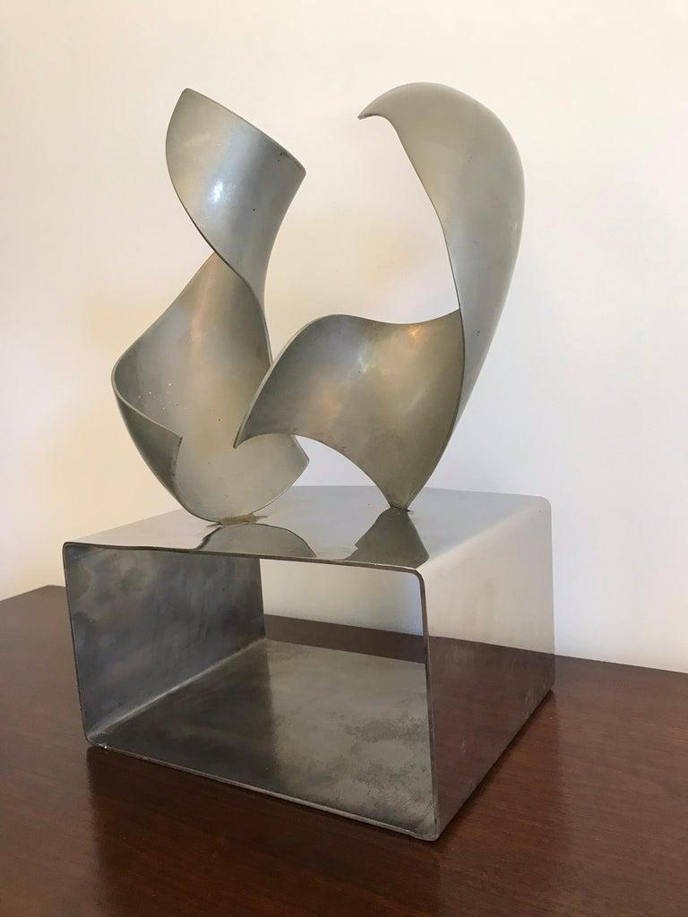 American Modern Steel Sculpture For Sale