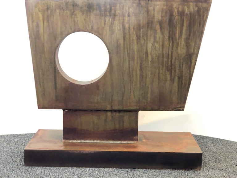 Modern Steel Sculpture in the Style of Barbara Hepworth For Sale 1