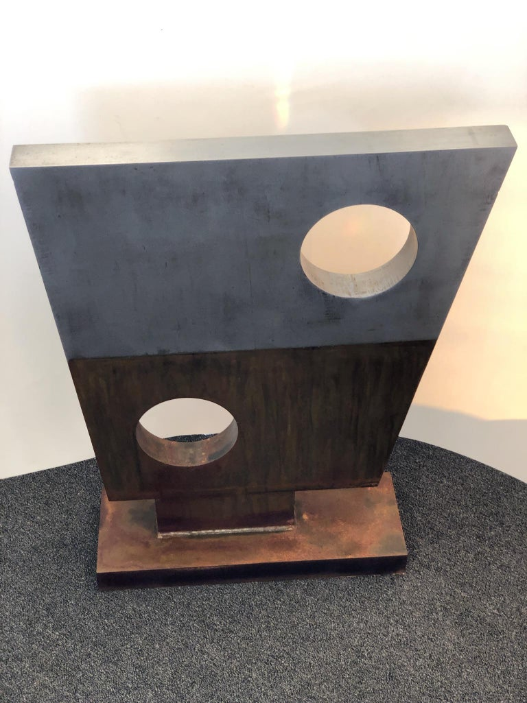 Modern Steel Sculpture in the Style of Barbara Hepworth For Sale 2