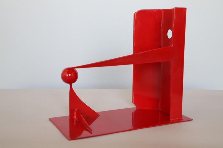 Powder-Coated Modern Steel Sculpture
