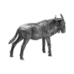Modern Sterling Silver of a Wildebeest from 2003