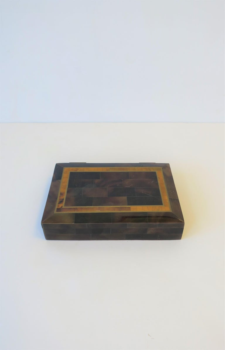 Post-Modern Modern Marble and Brass Jewelry Box For Sale