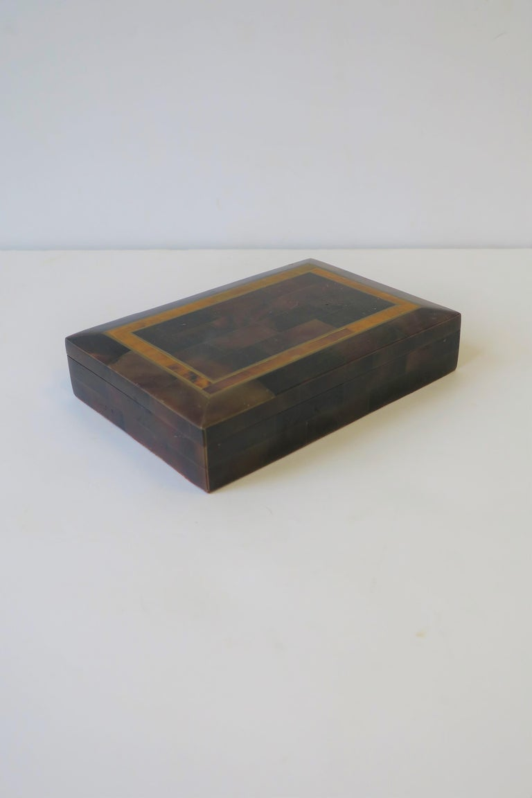 Modern Marble and Brass Jewelry Box In Good Condition For Sale In New York, NY