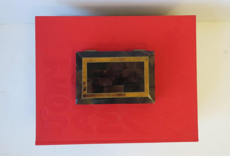 Modern Marble and Brass Jewelry Box For Sale 4