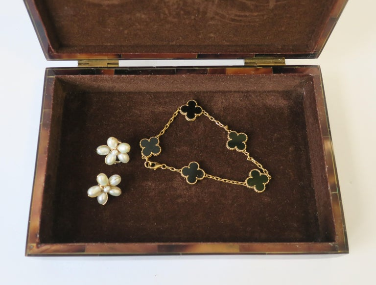 Modern Marble and Brass Jewelry Box For Sale 5