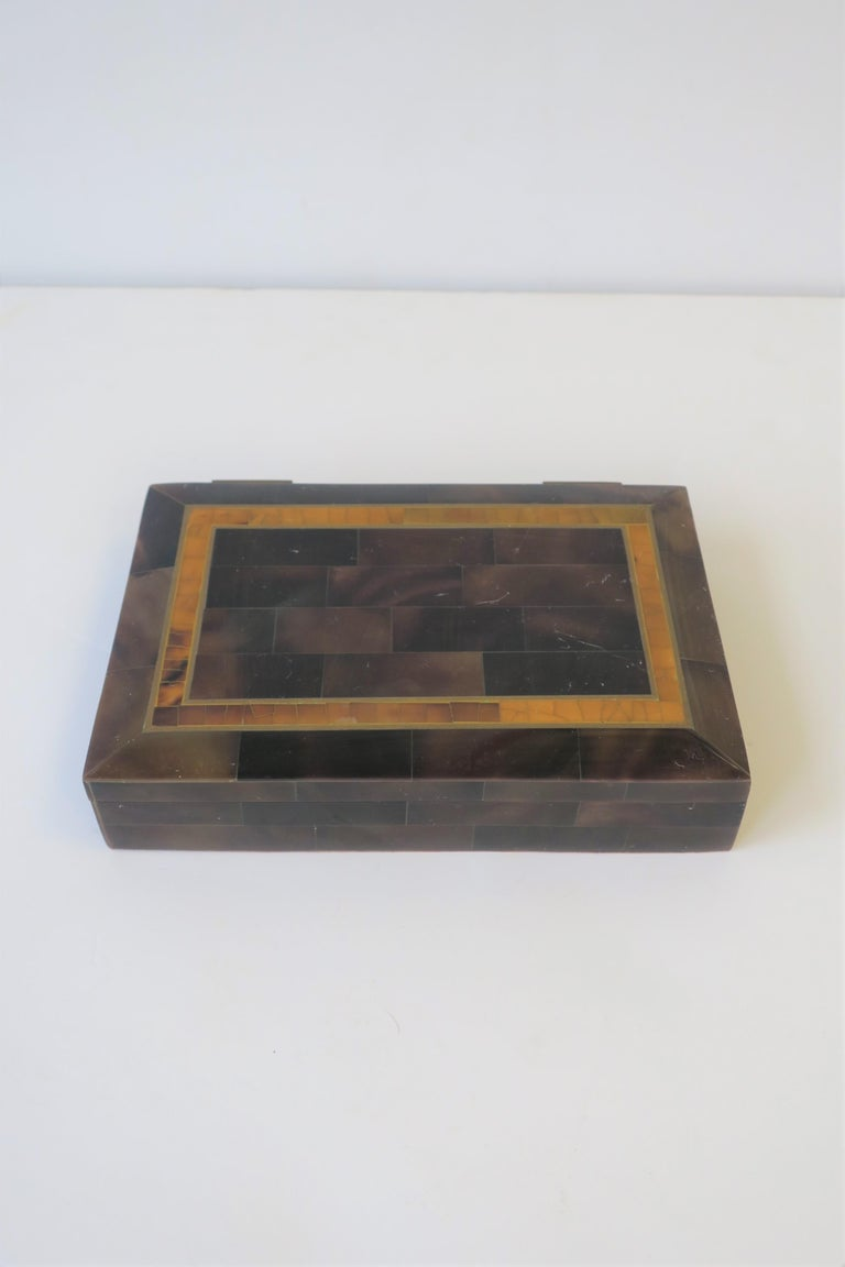 Modern Marble and Brass Jewelry Box For Sale 6