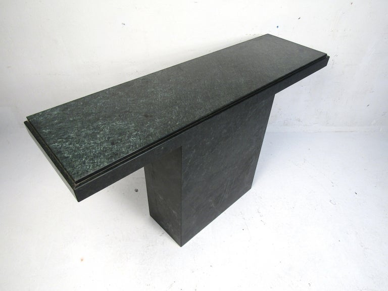Modern Stone Hall Table In Good Condition For Sale In Brooklyn, NY