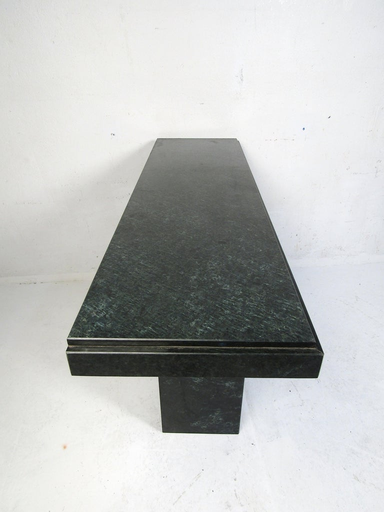20th Century Modern Stone Hall Table For Sale