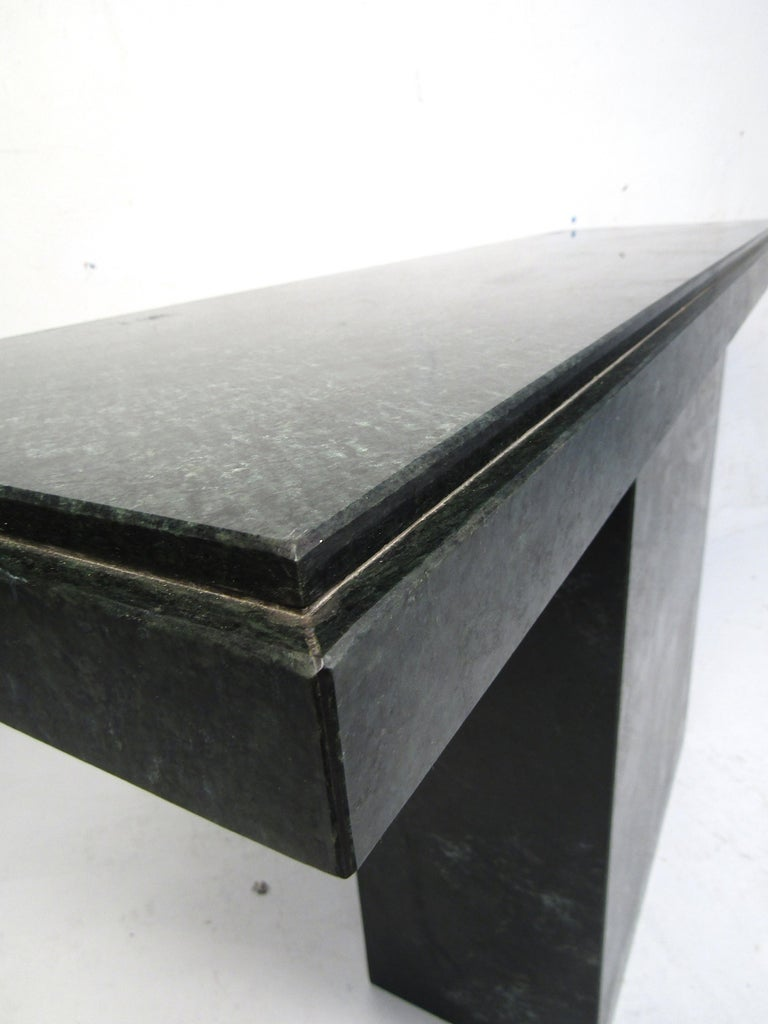 Modern Stone Hall Table For Sale 1