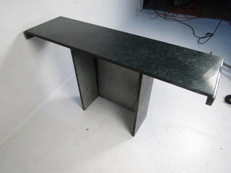 Modern Stone Hall Table For Sale 2