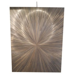 Modern Straw Marquetry Panel, France, 2018