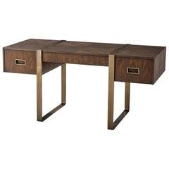 Modern Studio Desk, Almond
