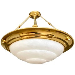 Modern Style Alabaster Chandelier Pendant Ceiling Light