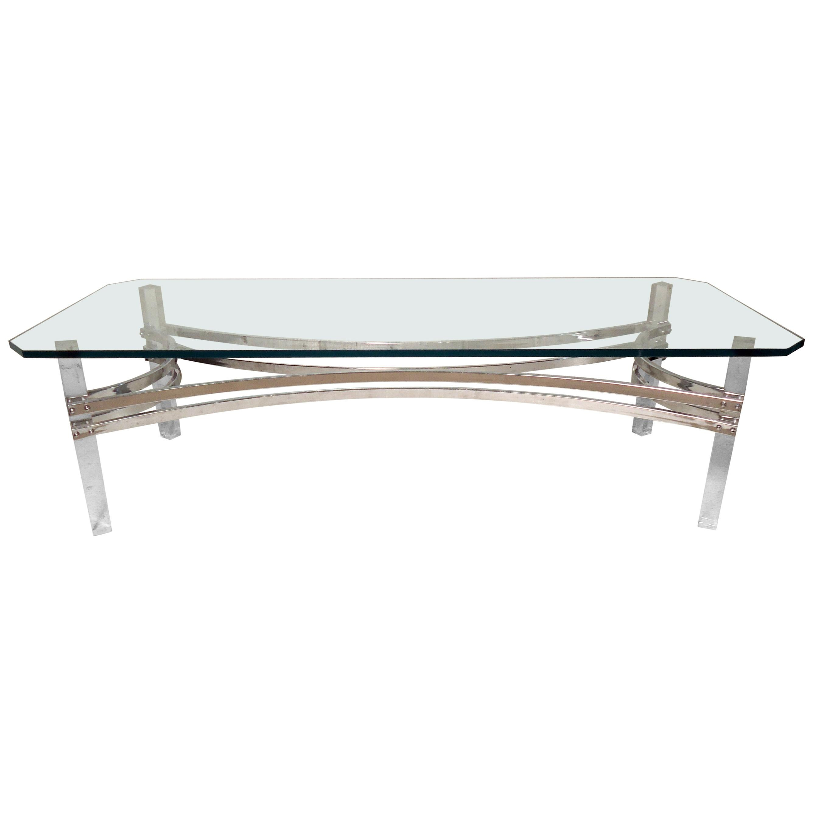 Modern Style Lucite Coffee Table