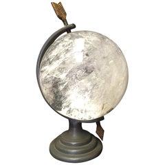 Modern Style Rock Crystal Bronze Globe